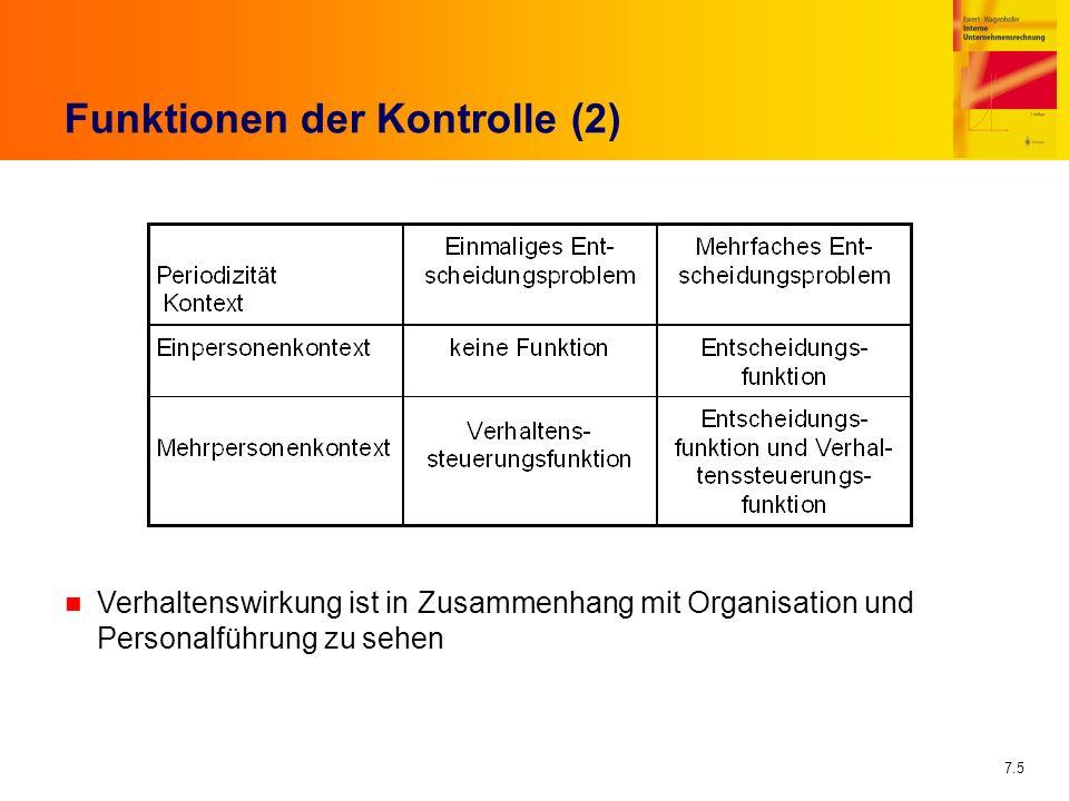 Funktionen der Kontrolle (2)