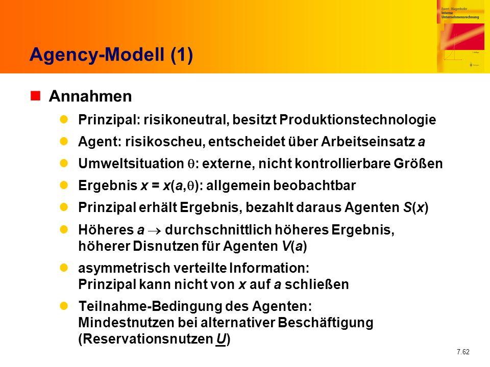 Agency-Modell (1) Annahmen