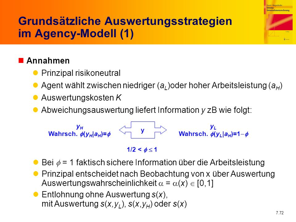 Grundsätzliche Auswertungsstrategien im Agency-Modell (1)