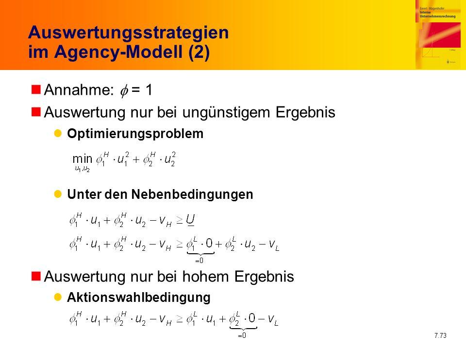 Auswertungsstrategien im Agency-Modell (2)
