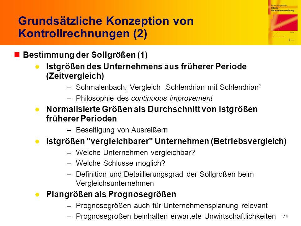 Grundsätzliche Konzeption von Kontrollrechnungen (2)