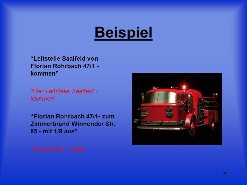 Beispiel Leitstelle Saalfeld von Florian Rohrbach 47/1 - kommen