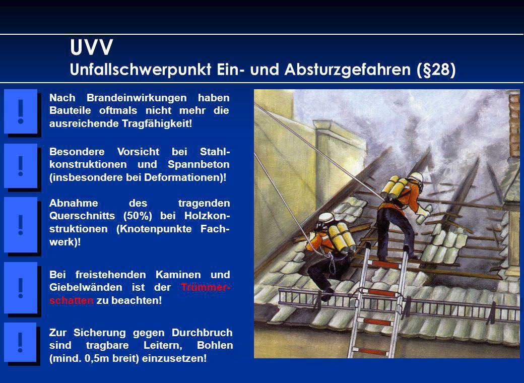 ! ! ! ! ! UVV Unfallschwerpunkt Ein- und Absturzgefahren (§28)