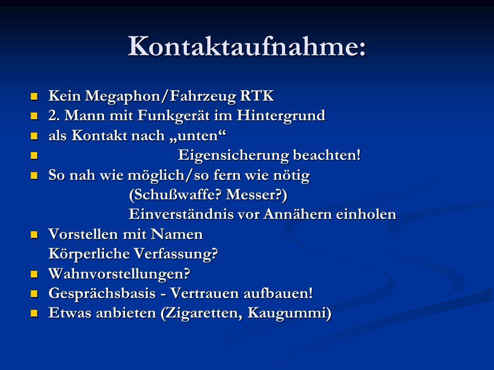 Kontaktaufnahme: Kein Megaphon/Fahrzeug RTK