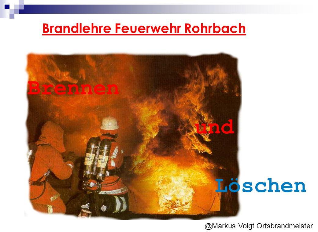 Brennen und Löschen Brandlehre Feuerwehr Rohrbach