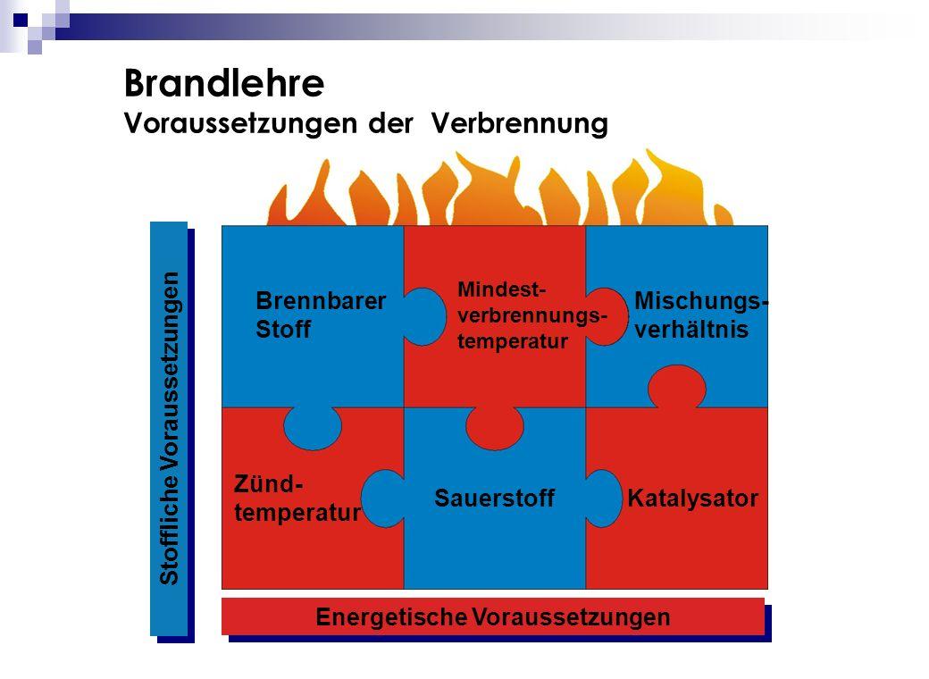 Stoffliche Voraussetzungen Energetische Voraussetzungen