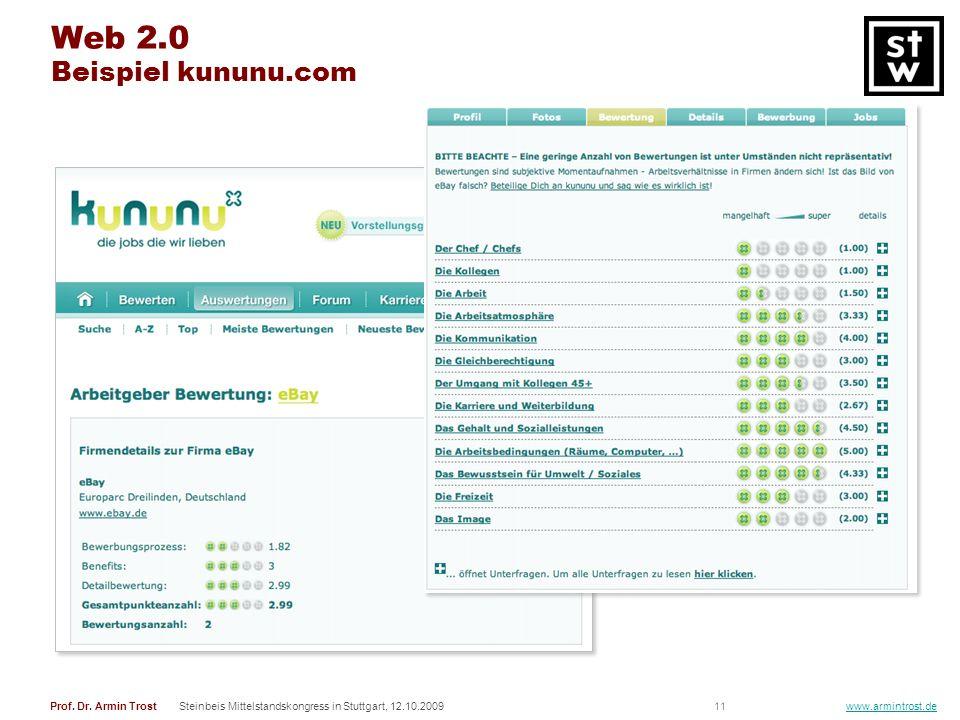 Web 2.0 Beispiel kununu.com