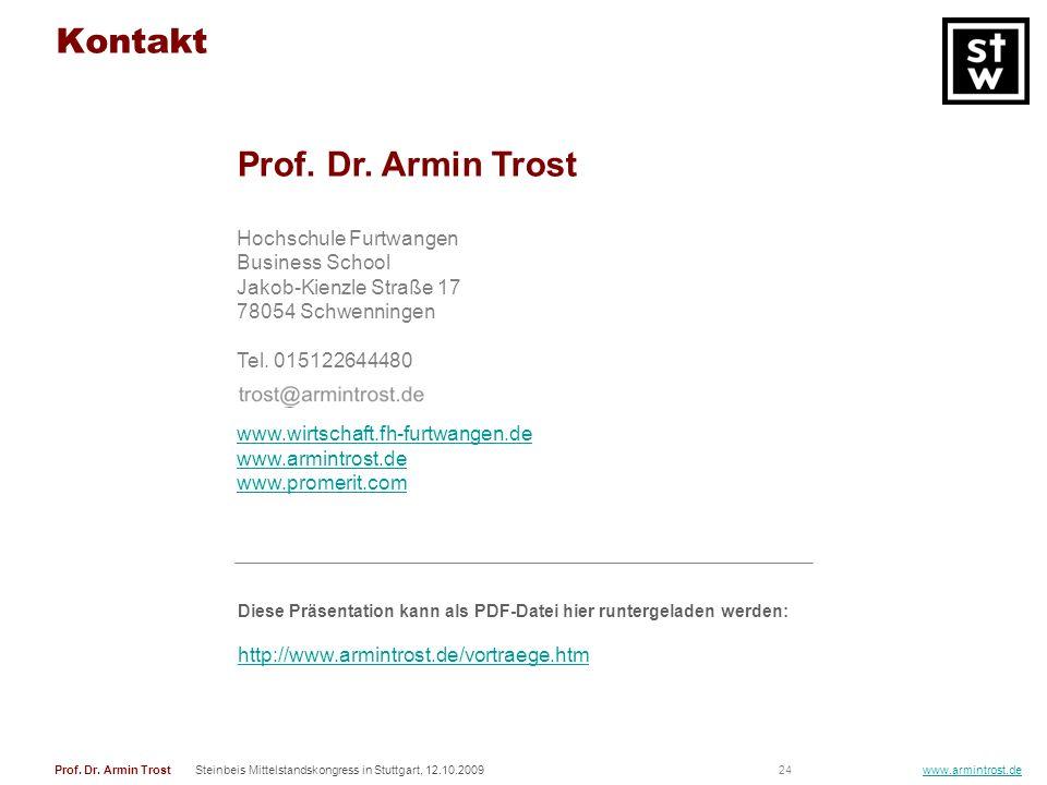 Kontakt Prof. Dr. Armin Trost Hochschule Furtwangen Business School