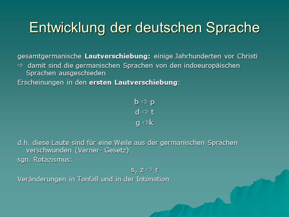 Entwicklung der deutschen Sprache