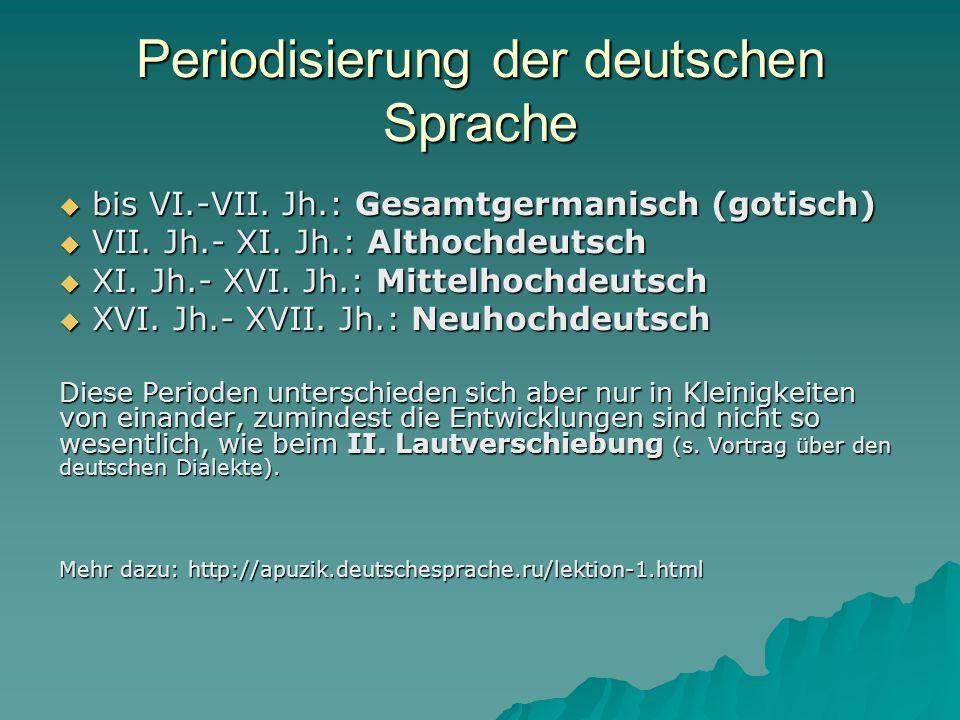 Periodisierung der deutschen Sprache