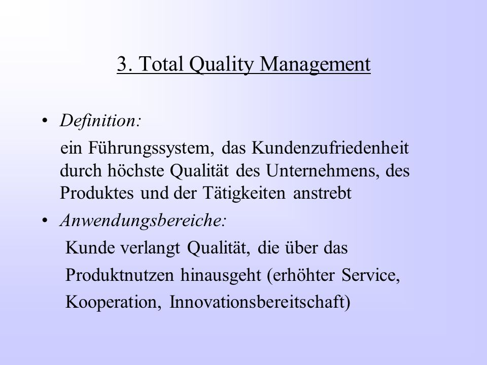 3. Total Quality Management