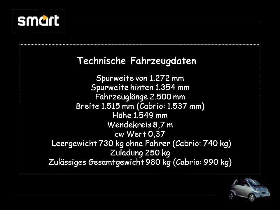 Technische Fahrzeugdaten