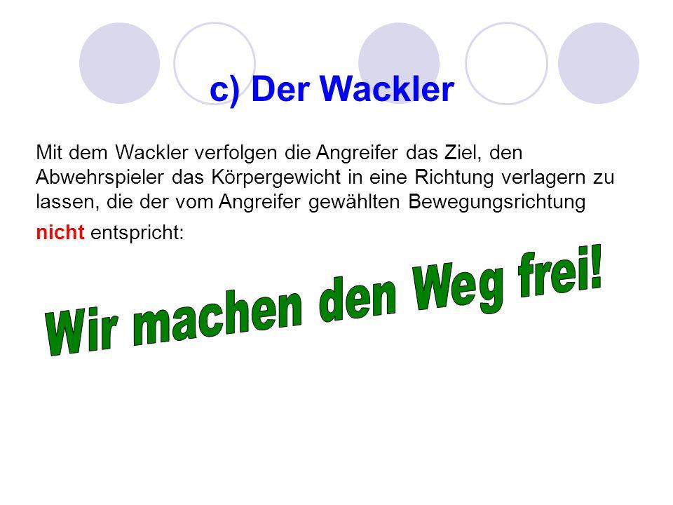 c) Der Wackler