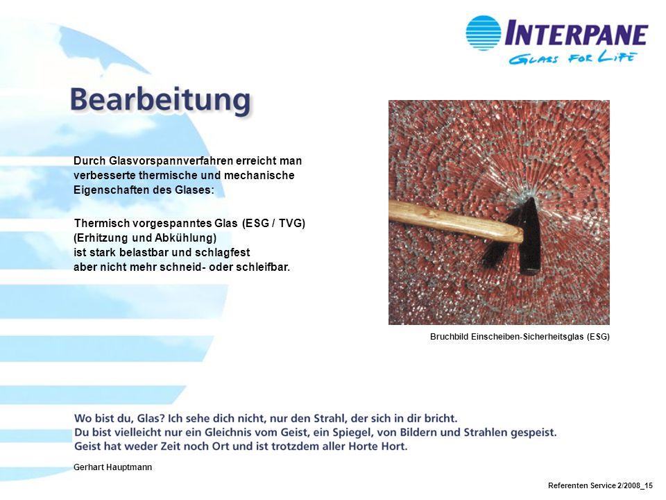 Thermisch vorgespanntes Glas (ESG / TVG) (Erhitzung und Abkühlung)