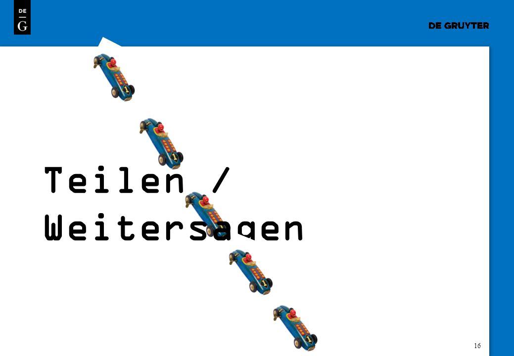 Teilen / Weitersagen