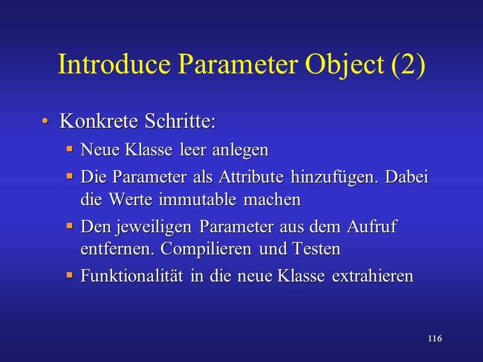Introduce Parameter Object (2)
