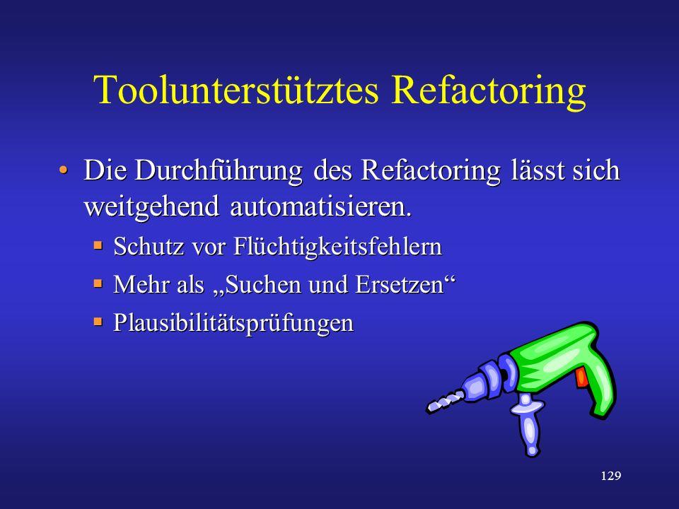 Toolunterstütztes Refactoring