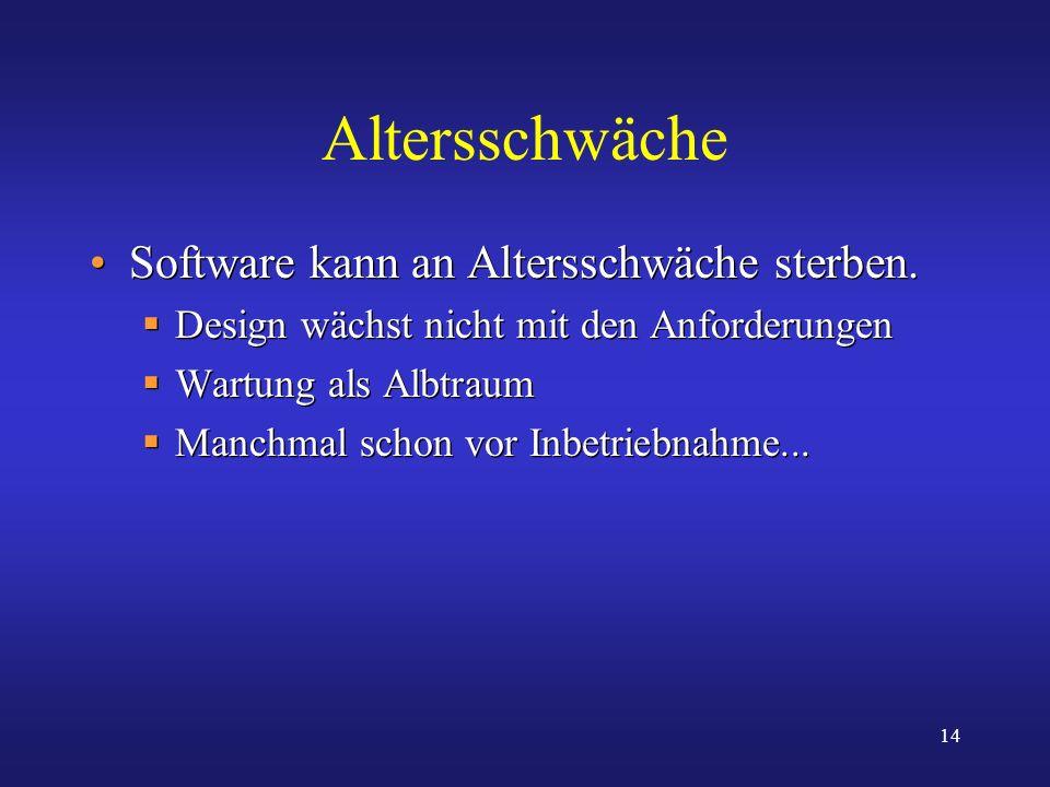 Altersschwäche Software kann an Altersschwäche sterben.