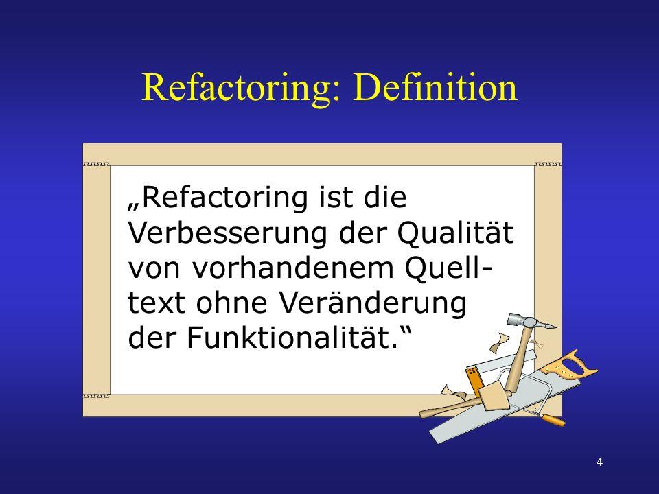 Refactoring: Definition