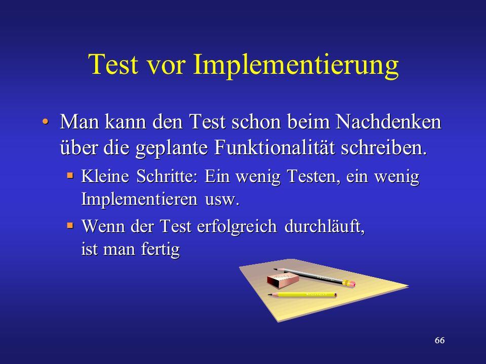 Test vor Implementierung