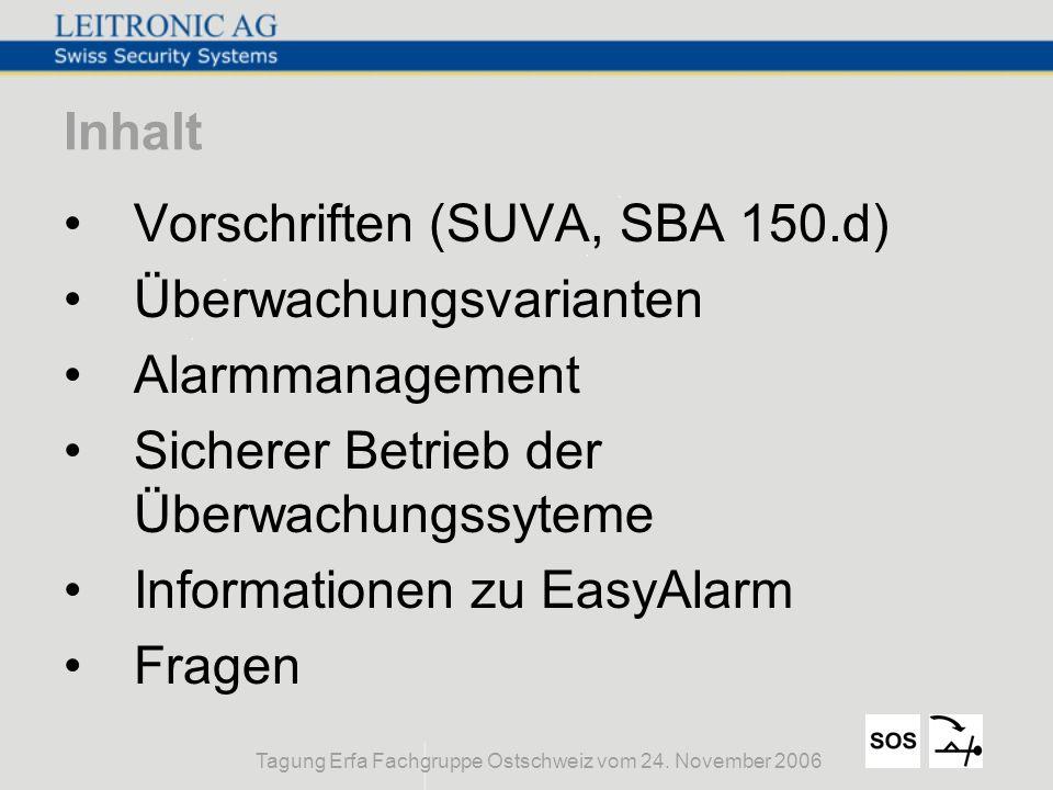 Tagung Erfa Fachgruppe Ostschweiz vom 24. November 2006