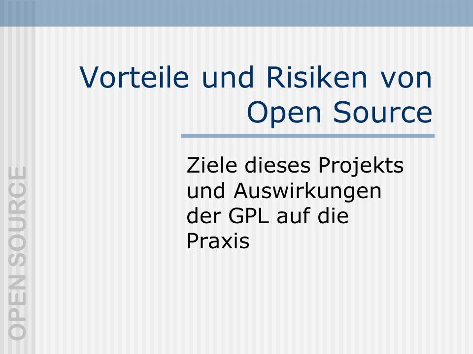 Vorteile und Risiken von Open Source