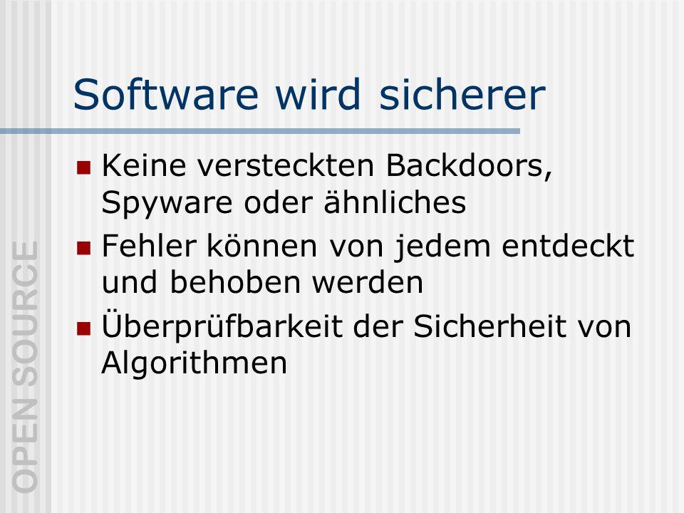 Software wird sicherer