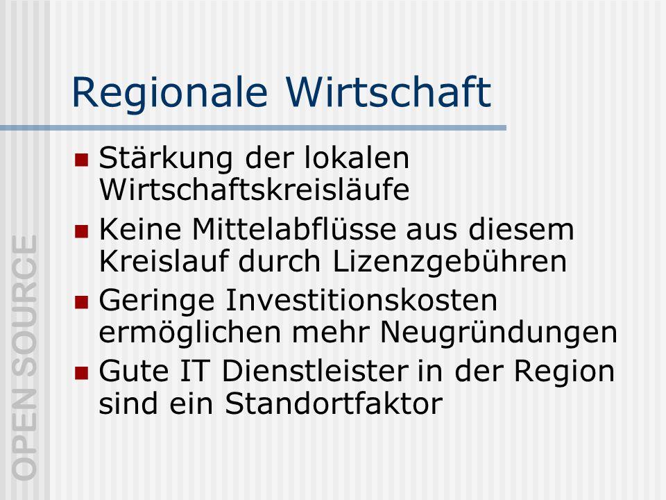 Regionale Wirtschaft Stärkung der lokalen Wirtschaftskreisläufe