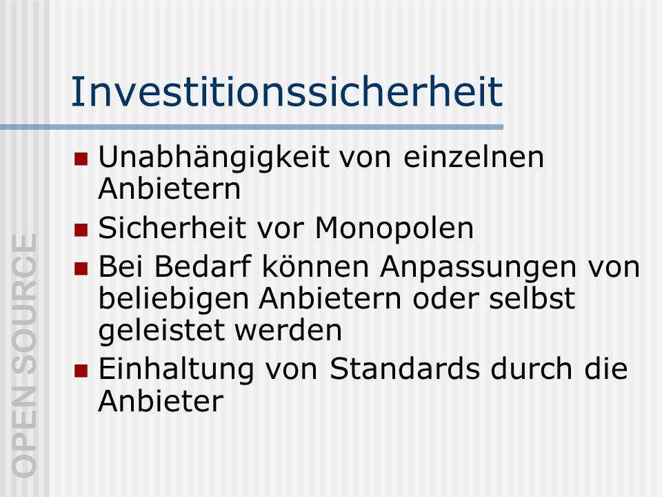 Investitionssicherheit