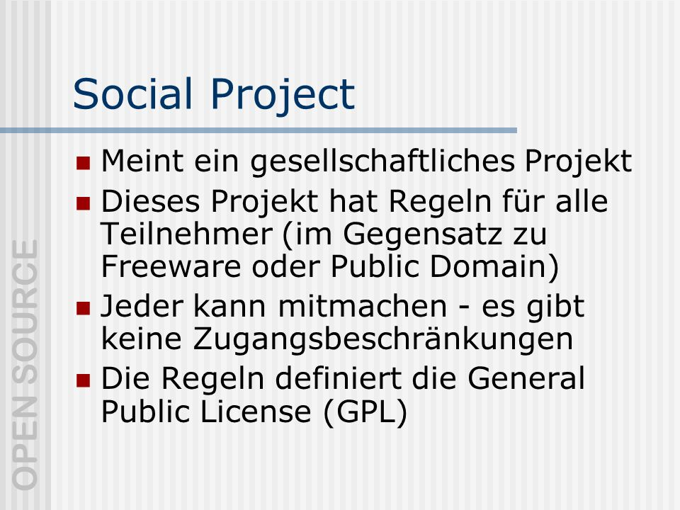 Social Project Meint ein gesellschaftliches Projekt