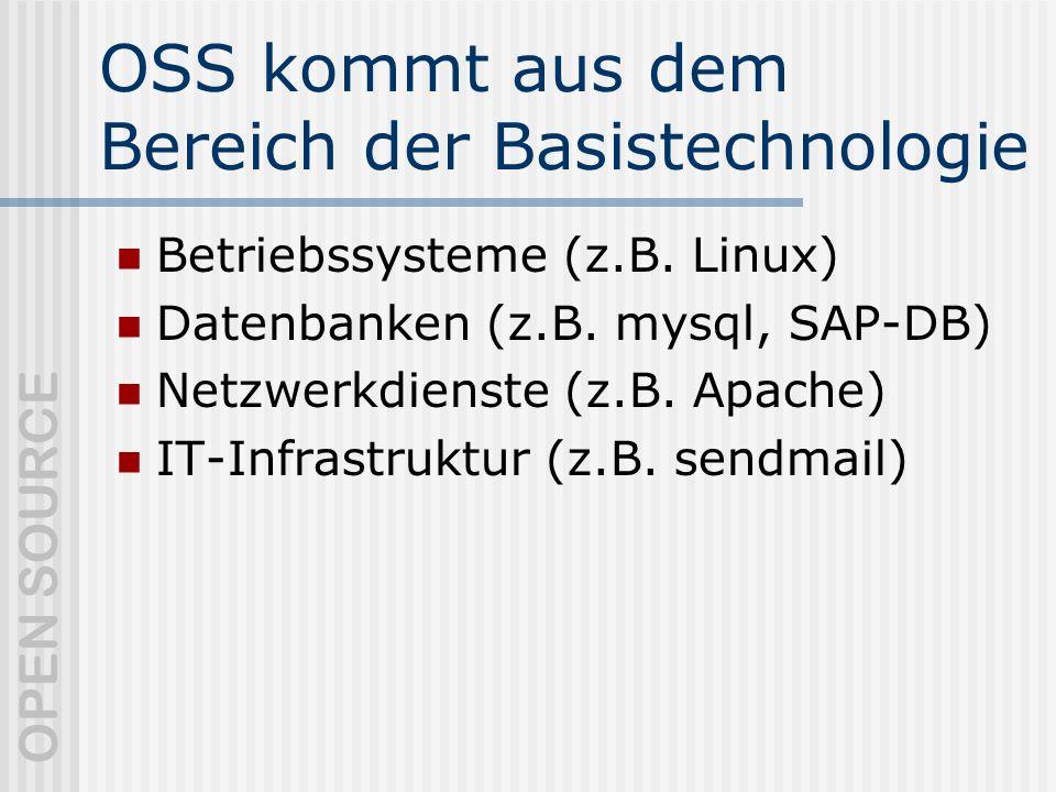 OSS kommt aus dem Bereich der Basistechnologie