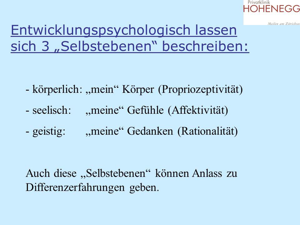 """Entwicklungspsychologisch lassen sich 3 """"Selbstebenen beschreiben:"""