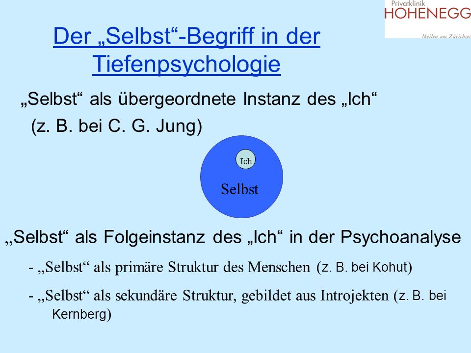 """Der """"Selbst -Begriff in der Tiefenpsychologie"""