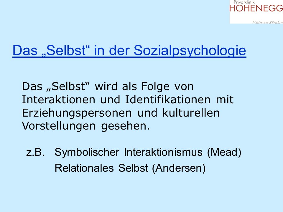 """Das """"Selbst in der Sozialpsychologie"""