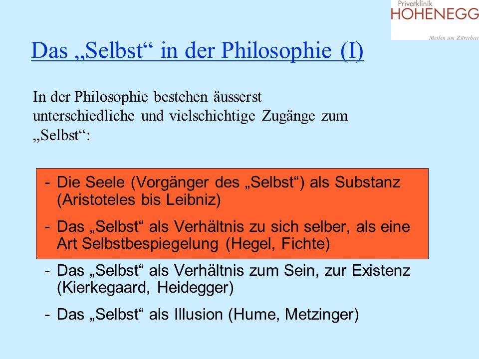 """Das """"Selbst in der Philosophie (I)"""