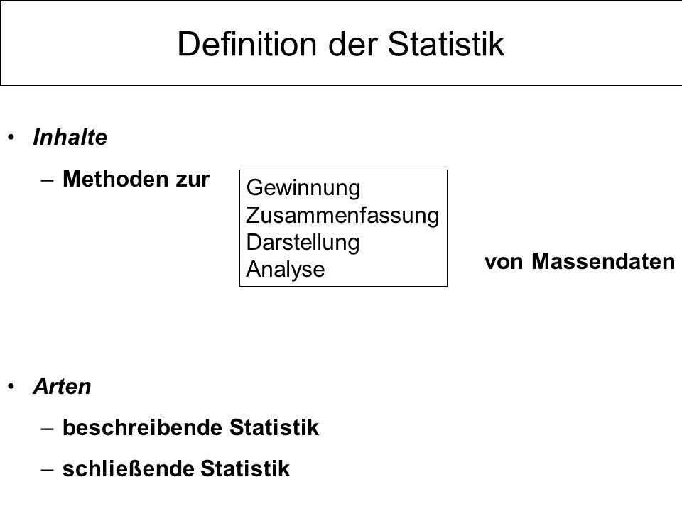 Definition der Statistik