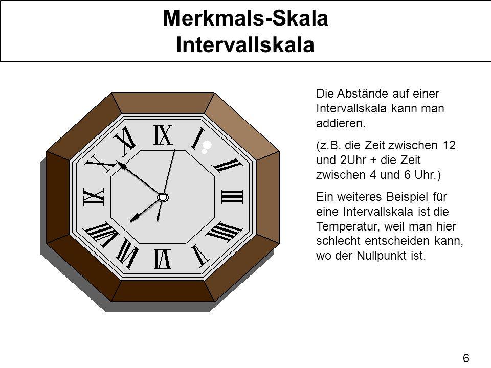 Merkmals-Skala Intervallskala