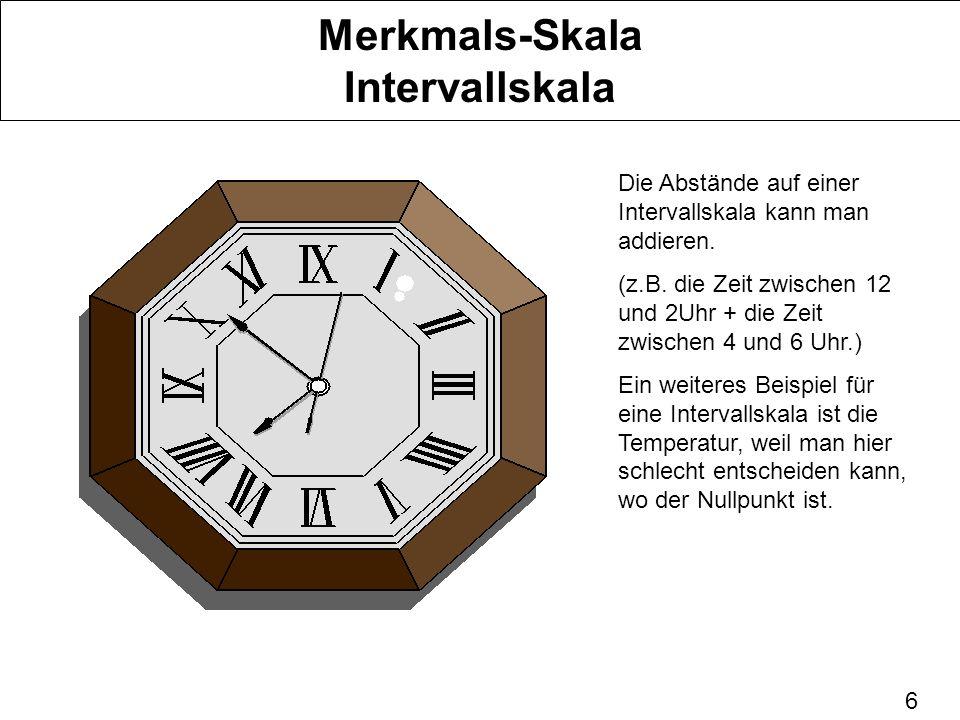 Merkmals-Skala Intervallskala