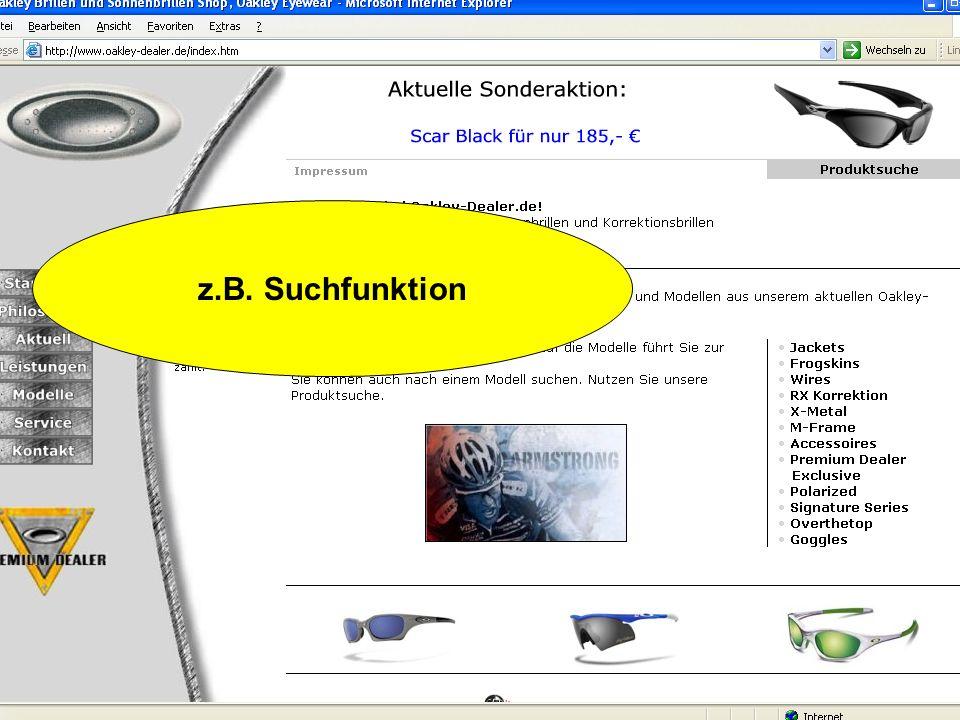 z.B. Suchfunktion