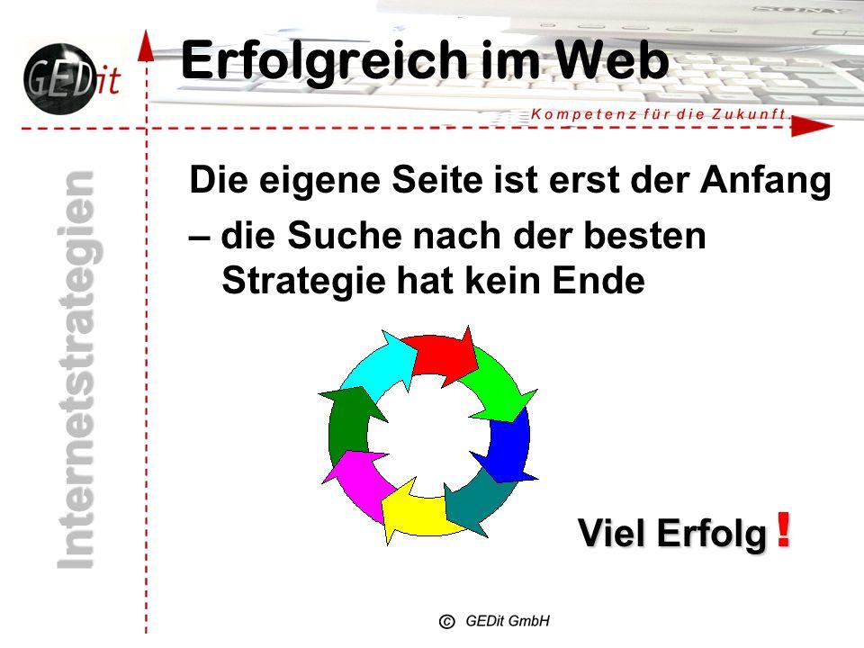 Erfolgreich im Web Internetstrategien