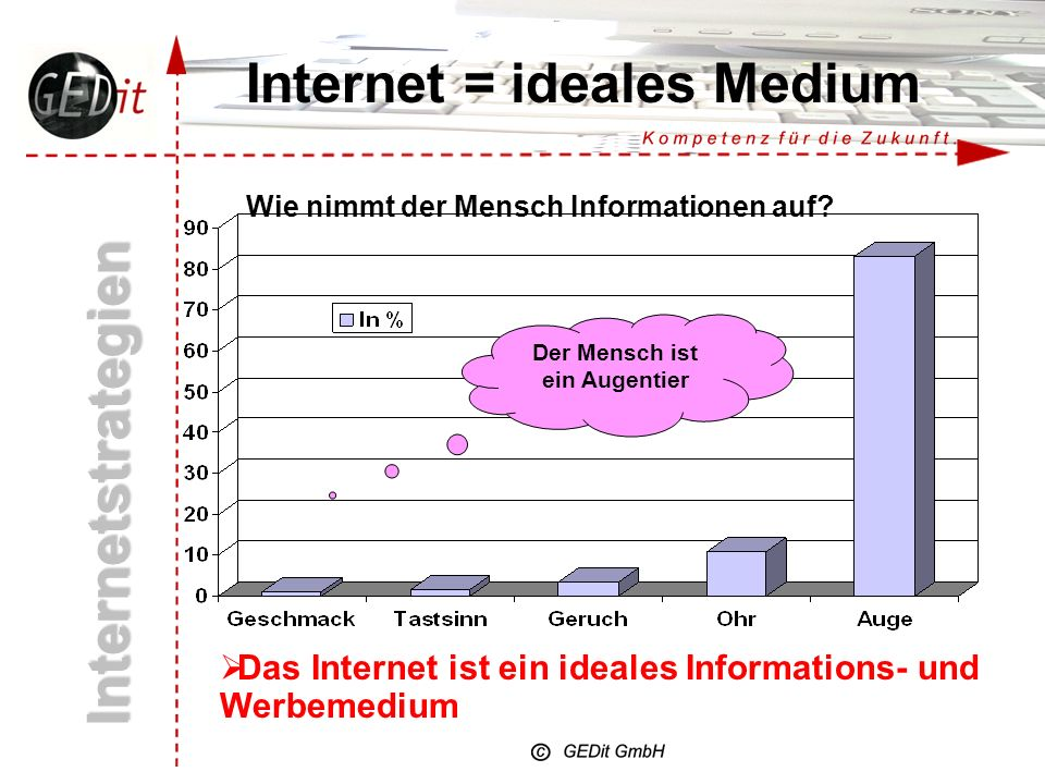Internet = ideales Medium