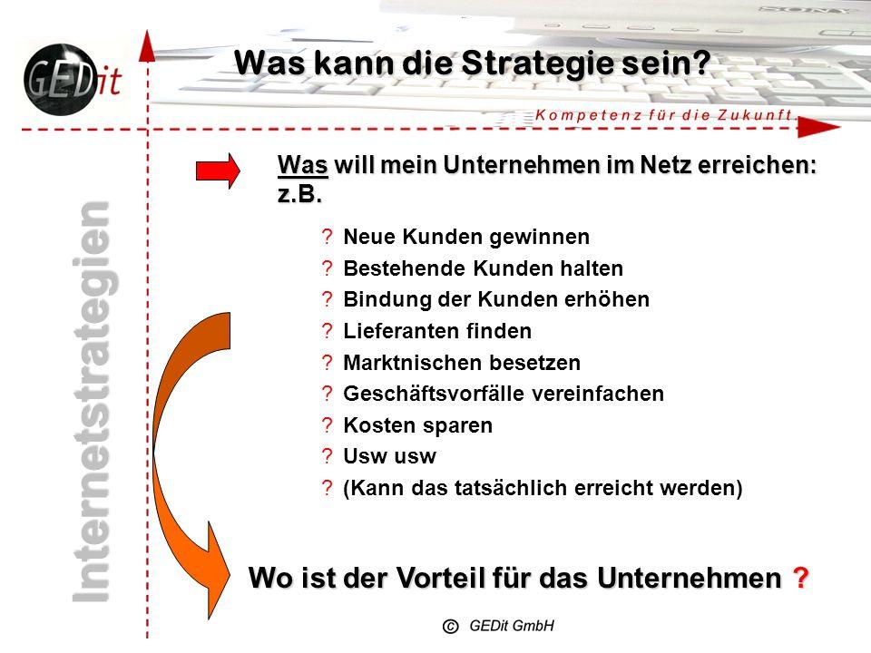 Was kann die Strategie sein