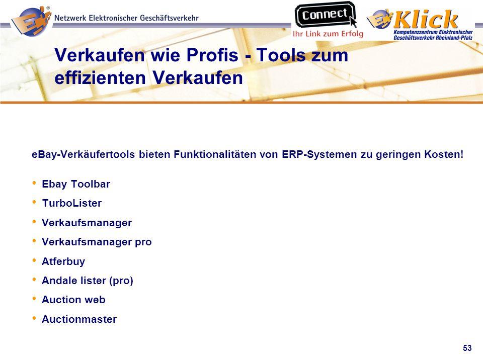 Verkaufen wie Profis - Tools zum effizienten Verkaufen
