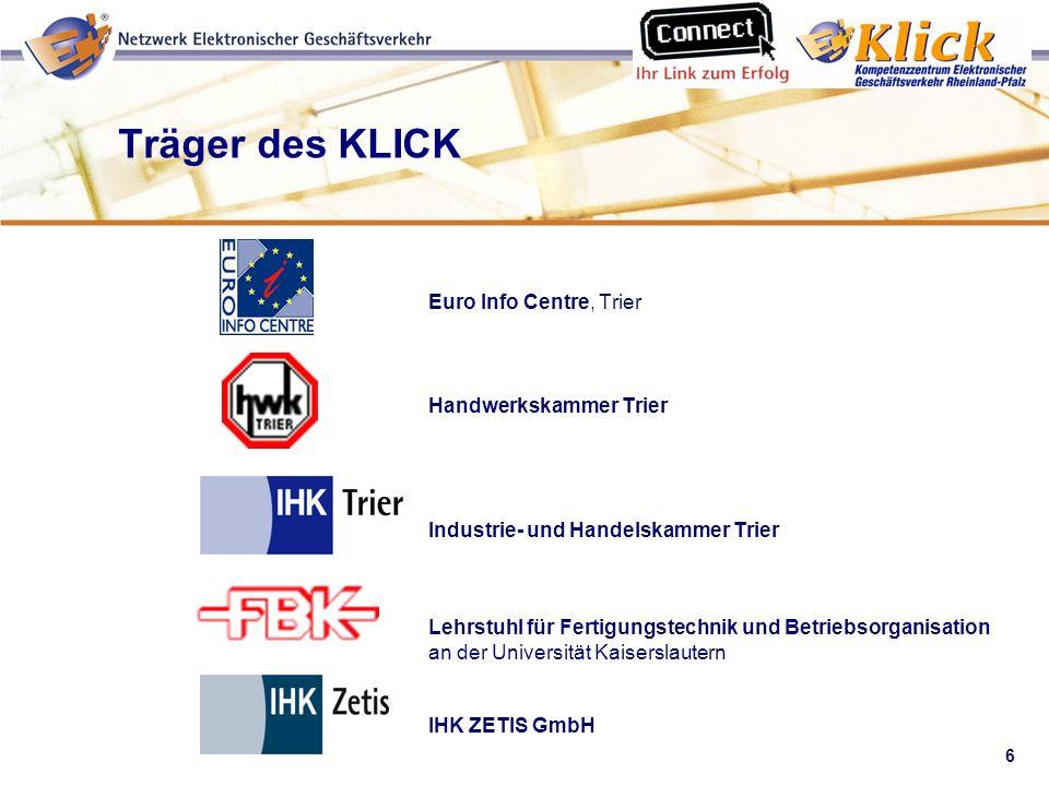 Träger des KLICK Euro Info Centre, Trier Handwerkskammer Trier