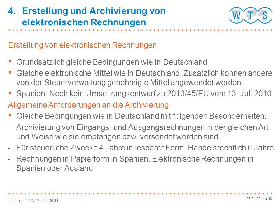 4. Erstellung und Archivierung von elektronischen Rechnungen