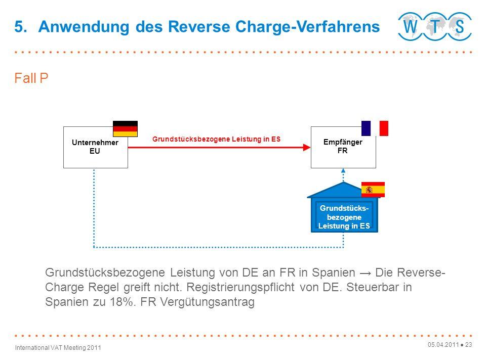 Grundstücksbezogene Leistung in ES Grundstücks-bezogene Leistung in ES