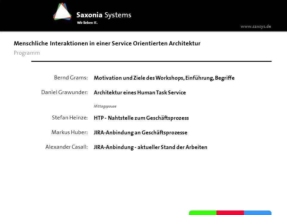 Menschliche Interaktionen in einer Service Orientierten Architektur
