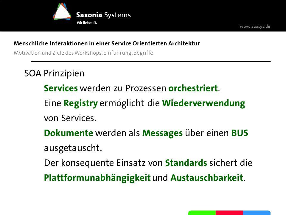 Services werden zu Prozessen orchestriert.