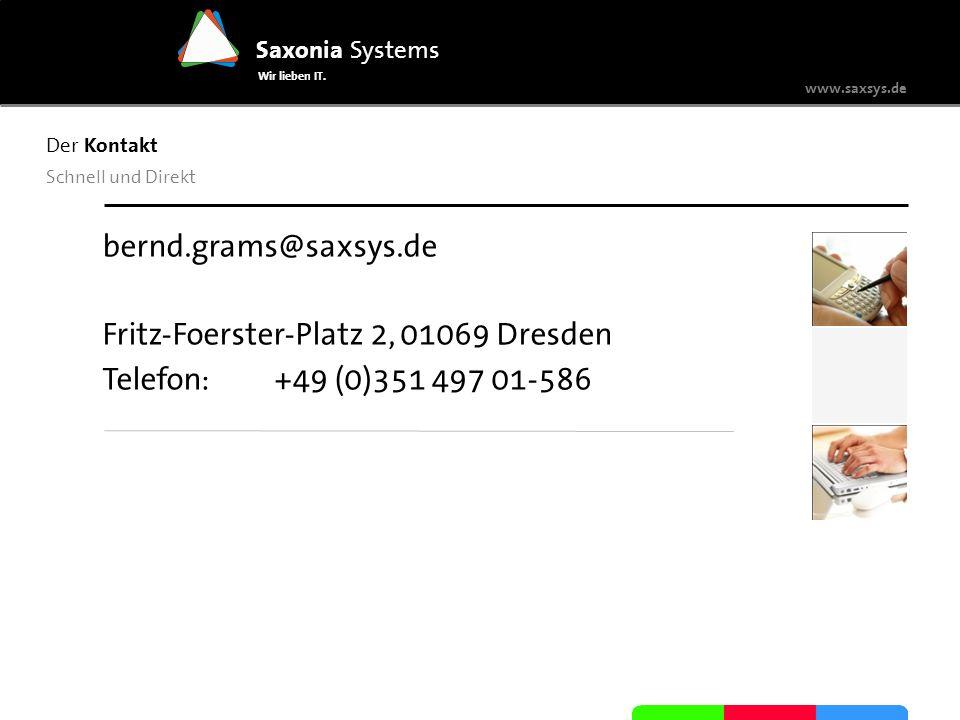 Fritz-Foerster-Platz 2, 01069 Dresden Telefon: +49 (0)351 497 01-586