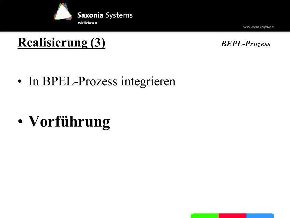 Realisierung (3) BEPL-Prozess